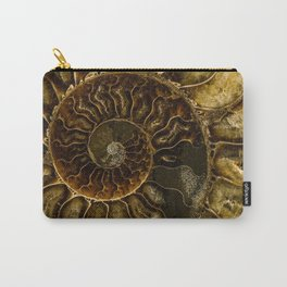Earth treasures - Dark and light brown fossil Carry-All Pouch