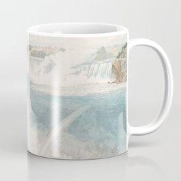 Vintage Illustration of Niagara Falls (1845) Coffee Mug
