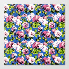 Honolulu Floral - Blue Canvas Print