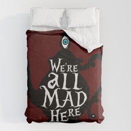 """We're all MAD here"" - Alice in Wonderland - Teapot - 'Tulgey Wood Brown' Comforters"