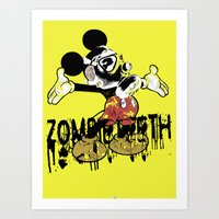fallout 3 Art Prints featuring Fallout by Iamzombieteeth Clothing