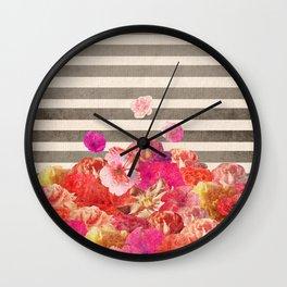 Vintage Floraline Wall Clock