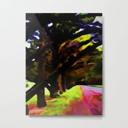 Avenue of Trees with Big Branches Metal Print