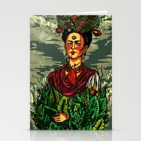 frida kahlo Stationery Cards featuring Frida Kahlo by Nicolae Negura