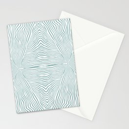Boho, Safari, African, Pattern, Turquoise and White Stationery Cards