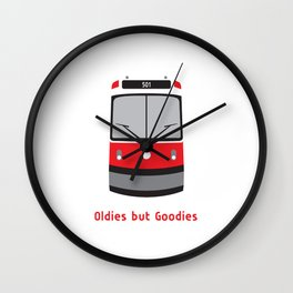 We #LOVE Old Streetcars Wall Clock