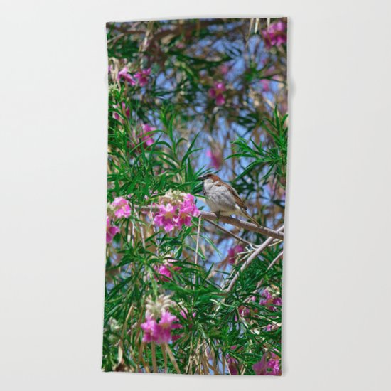 Hello Spring! Beach Towel