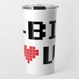 8 Bit Love Travel Mug