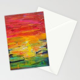 Ombre Rainbow Sunset Stationery Cards