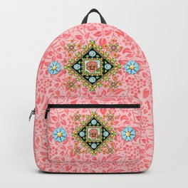 Pink Pansy Cottage Backpack
