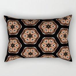 Beautiful Pink and Black Beadwork Inspired Fashion Print Rectangular Pillow