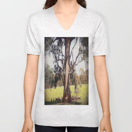 Under the shade of a coolabah Tree Unisex V-Neck