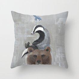 Animal Stack Throw Pillow