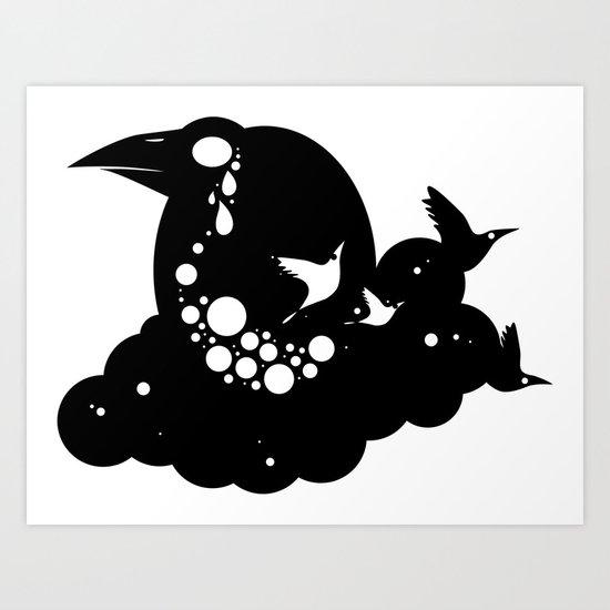 12 crows/ cloud Art Print
