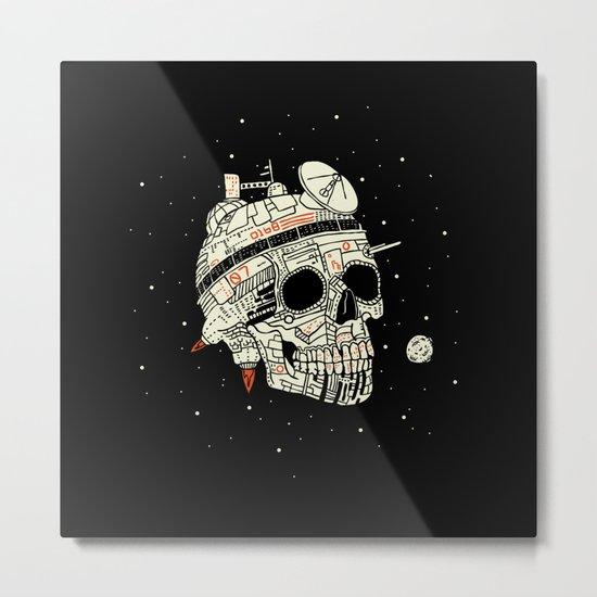 Planet Space Skull  Metal Print