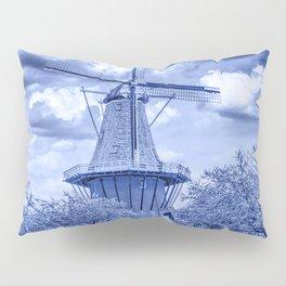 Delft Blue Dutch Windmill Pillow Sham