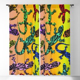 Gecko Deco Pattern Blackout Curtain