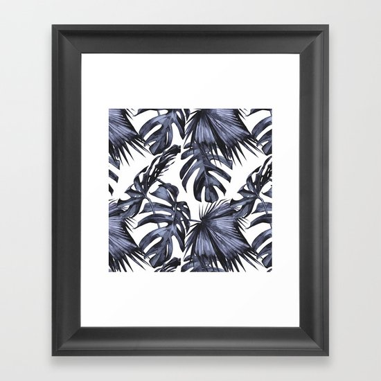 Classic Palm Leaves Navy Blue by followmeinstead