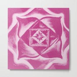 Four Directions - Balancing square - Pink Metal Print