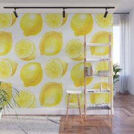 Lemons pattern design Wall Mural