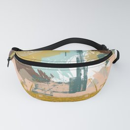 Suspicious Actions, Abstract Landscape Art Fanny Pack