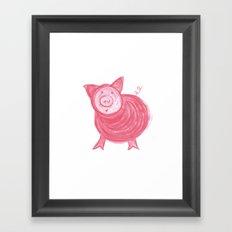 Little Piggy! Framed Art Print