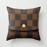 louis Throw Pillows featuring LOUIS by MiliarderBrown