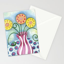 Lollipop Flowers Stationery Cards