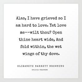 26        | 200210 | Elizabeth Barrett Browning Quotes Art Print