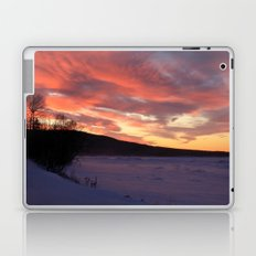 Wintry Sunset over the Porkies Laptop & iPad Skin