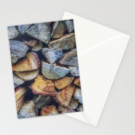 WOOD - PILE - PHOTOGRAPHY Stationery Cards