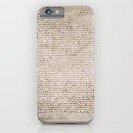 The Magna Carta 0f 1215 iPhone Case