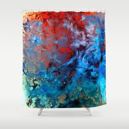 α Comae Berenices Shower Curtain