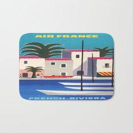 Vintage poster - French Riviera Bath Mat