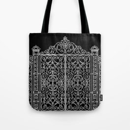 French Wrought Iron Gate | Louis XV Style | Black and Silvery Grey Tote Bag