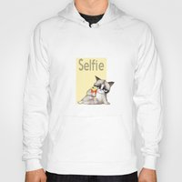 french fries Hoodies featuring Selfie with French Fries by stylishbunny