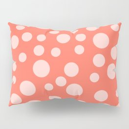 Living Coral Polka Dot Party Pillow Sham
