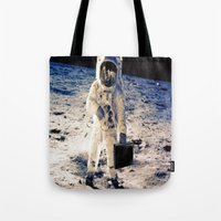 lawyer Tote Bags featuring Astronaut lawyer  by rivercbishop