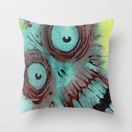 Frenzied Zombie Throw Pillow