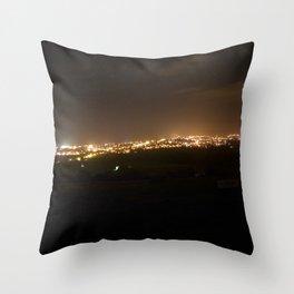Night Lights Throw Pillow