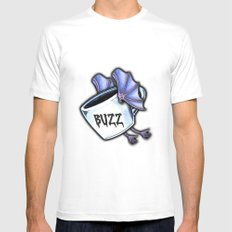 BUZZ Mens Fitted Tee White MEDIUM