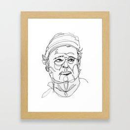 bill murray's one liners (black) Framed Art Print