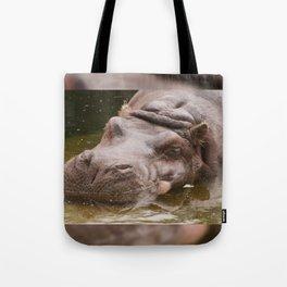 Huge bored Hippopotamus Tote Bag