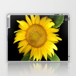 Summer Yellow Sunflower, Scanography Art, Flowers Laptop & iPad Skin