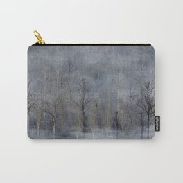 Winter Trees in Misty Fog Carry-All Pouch