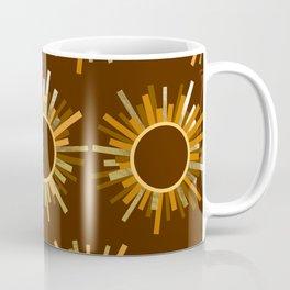 Art Deco Starburst in Brown Coffee Mug