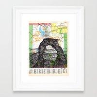 utah Framed Art Prints featuring Utah by Ursula Rodgers