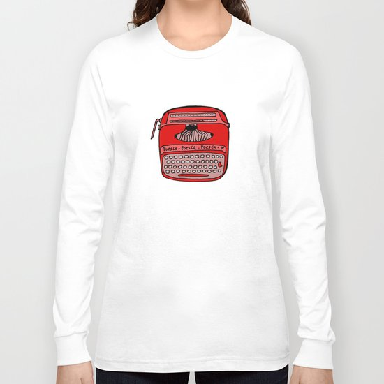 Poesía typewriter Long Sleeve T-shirt