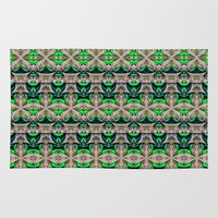 bamboo Area & Throw Rugs featuring Bamboo by Zandonai Pattern Designs