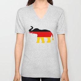 German Flag - Elephant Unisex V-Neck